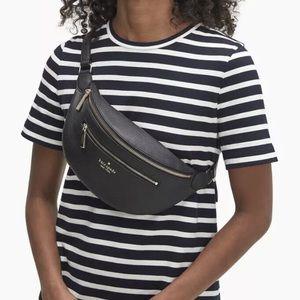 Kate spade Leila belt bag black Fanny pack bnwt